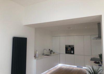 Open plan kitchen Bearsden