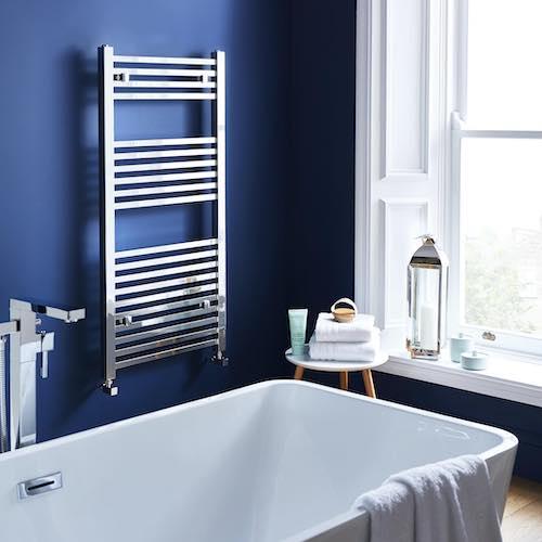 bathroom renovations - designer radiator - Bell & Higgins, Glasgow
