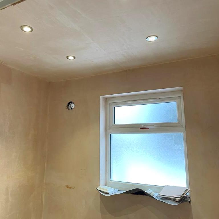 bathroom wall & ceiling plastering - Bell & Higgins, Glasgow