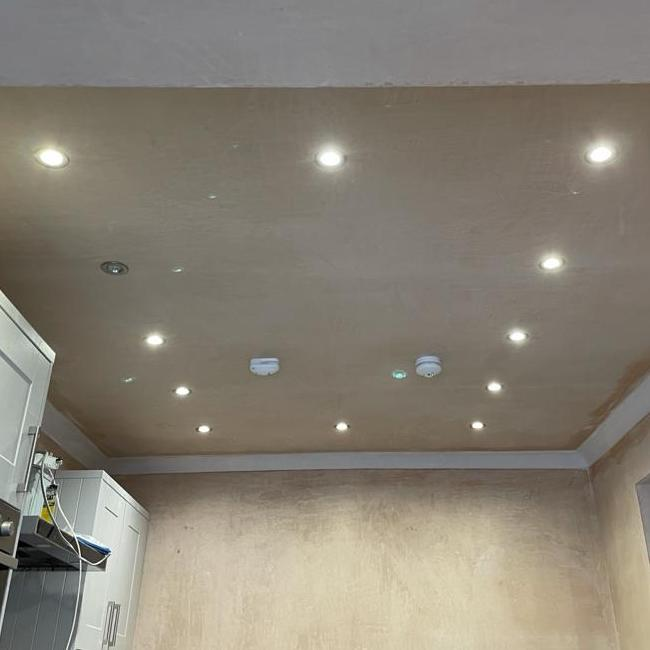 kitchen wall & ceiling plastering - Glasgow
