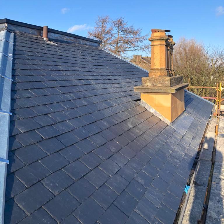 new slate roof in Kirkintilloch - Bell & Higgins, Glasgow