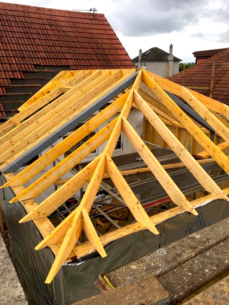 roof structure for milngavie extension - Bell & Higgins, Glasgow