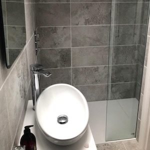 walk-in shower, bathroom extension - Paisley