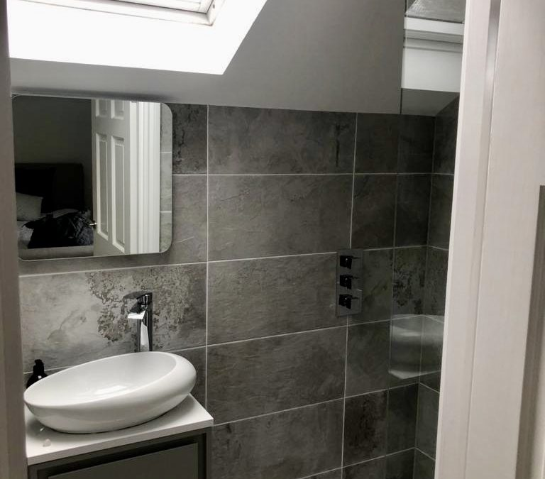 Shower room extension: Paisley
