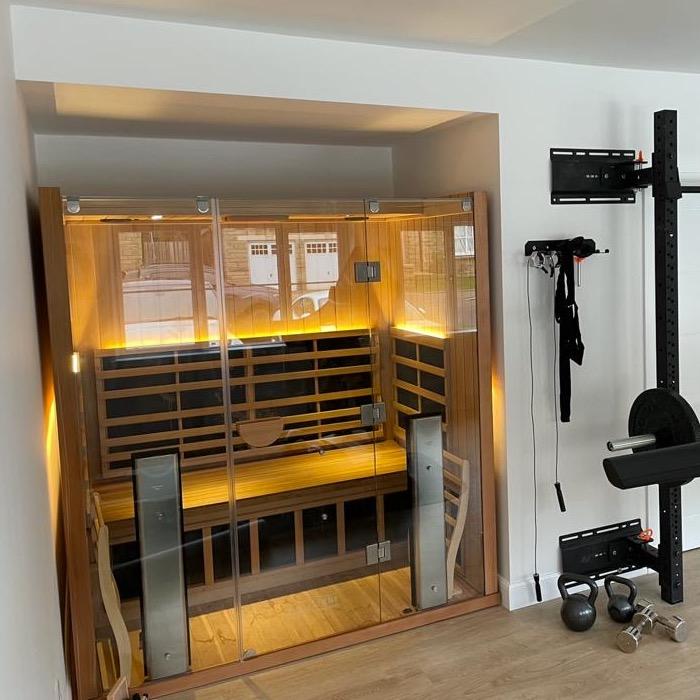 sauna garage conversion - Newton Mearns