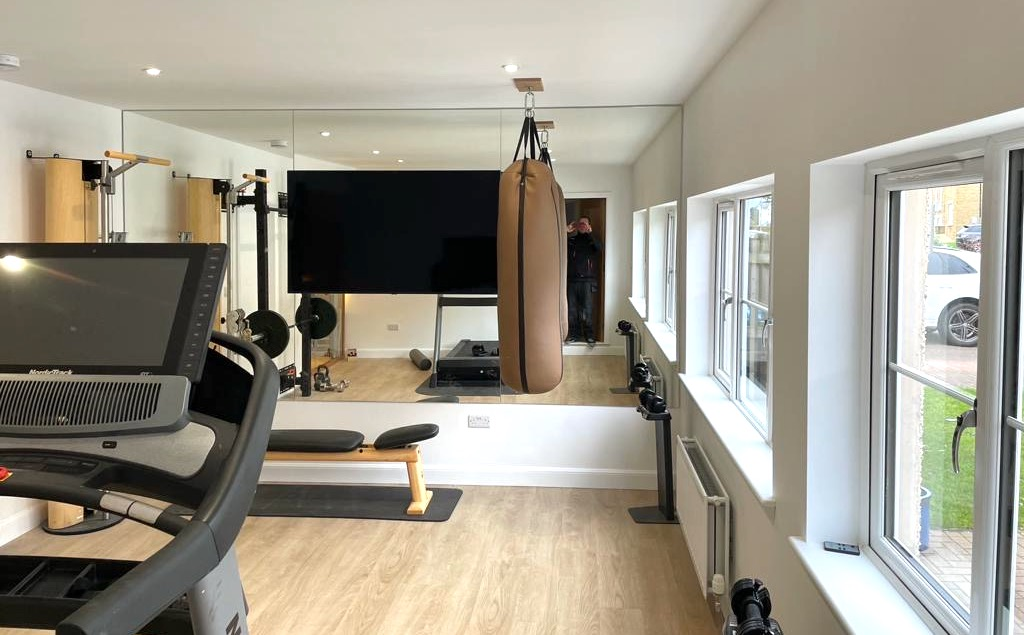 Garage Converted Into Gym - Bell & Higgins - Garage Conversions Paisley