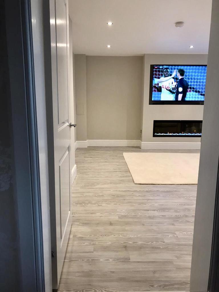 Garage Conversion TV Room - Bell & Higgins - Garage Conversions Clydebank