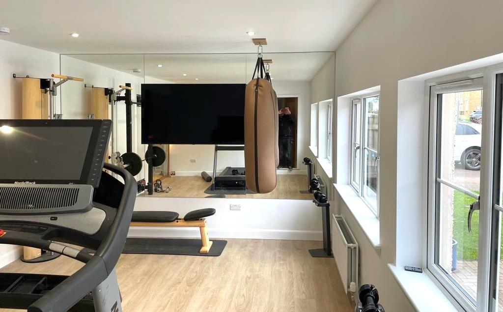 Garage Converted Into Gym - Bell & Higgins - Garage Conversions Clydebank